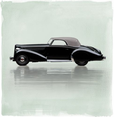 1938 Packard Eight Cabriolet Graber 1601 luxury retro wallpaper