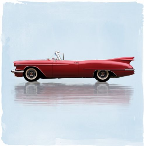1958 Cadillac Eldorado Biarritz Raindrop-Dream-Car Prototype luxury convertible retro wallpaper