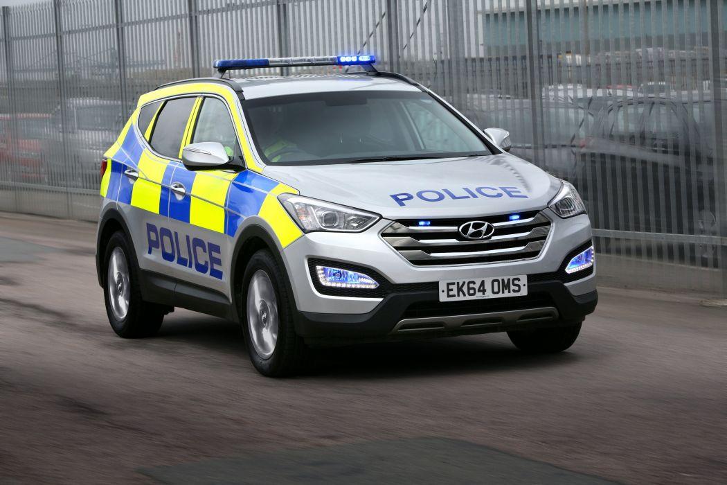 2012 Hyundai Santa-Fe Police UK-spec D-M emergency suv wallpaper
