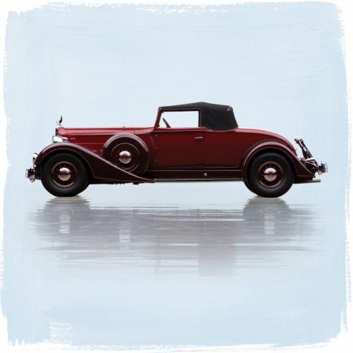 1934 Packard Twelve Coupe Roadster 1107-739 luxury retro wallpaper