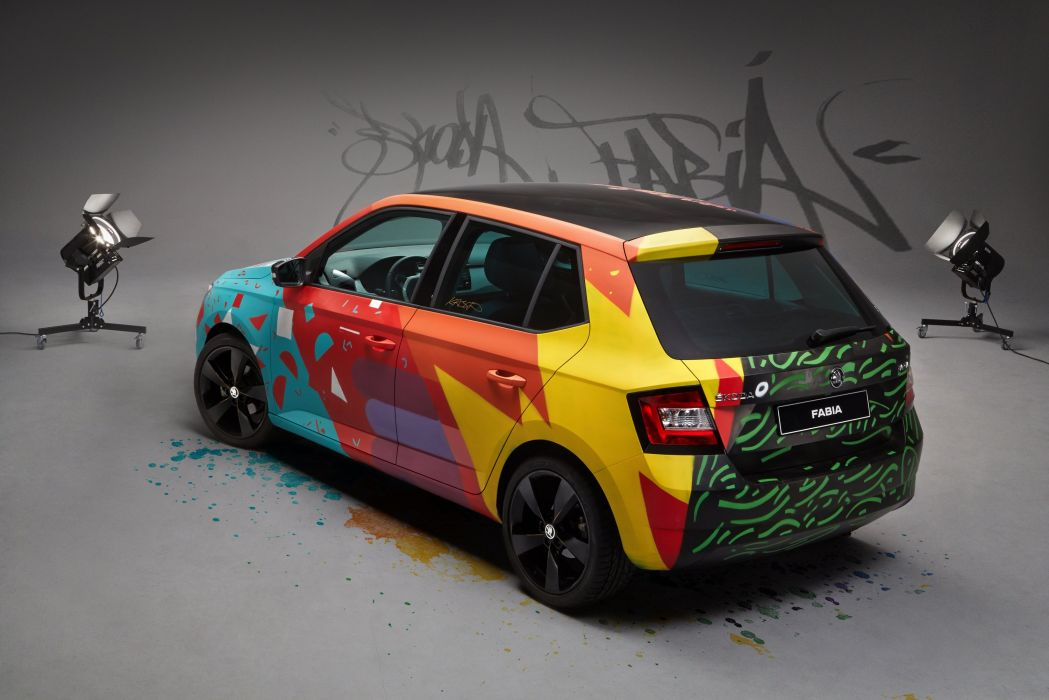 2015 Skoda Fabia Street Art tuning graffiti wallpaper