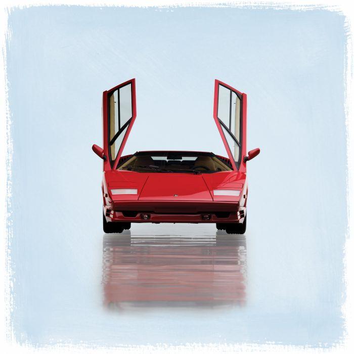 1990 Lamborghini Countach 25th-Anniversary US-spec supercar wallpaper