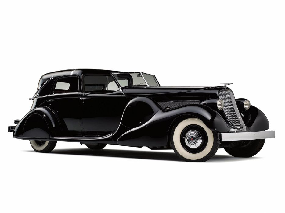 1935 Duesenberg Model-SJ 553-2582 Town Car LWB Bohman Schwartz luxury retro vintage wallpaper