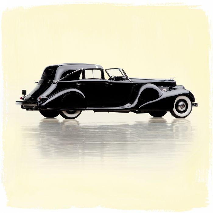 1935 Duesenberg Model-SJ 553-2582 Town Car LWB Bohman Schwartz luxury retro vintage wallpaper