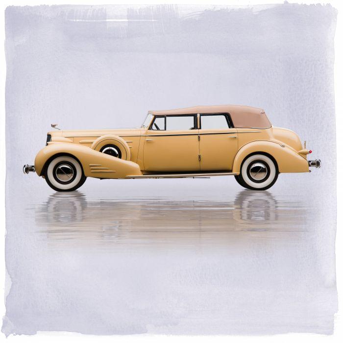1935 Cadillac V16 452-D Imperial Convertible Sedan 5880 luxury retro vintage wallpaper