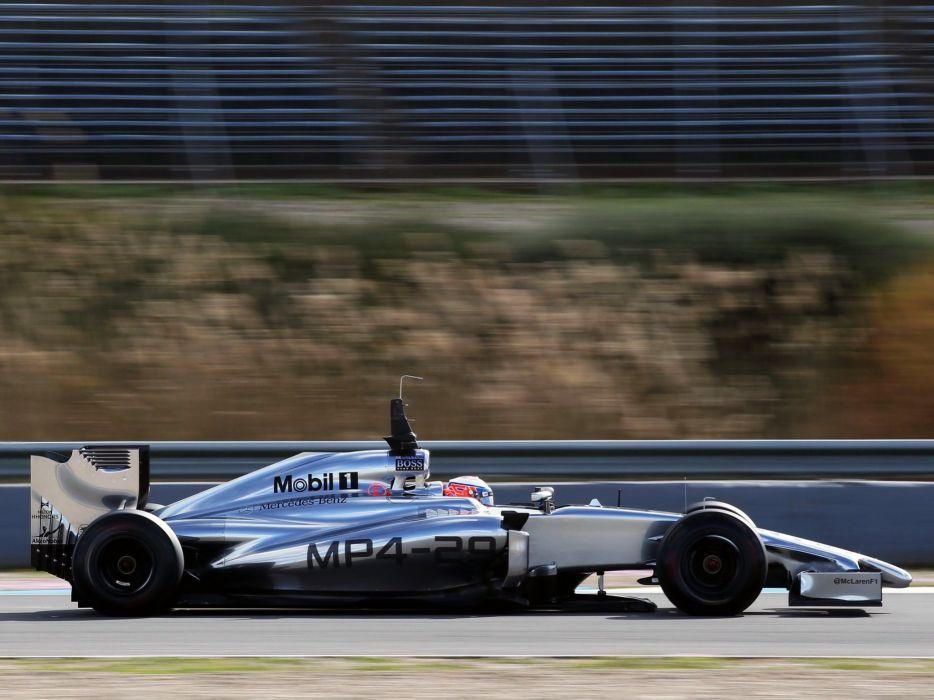 2014 McLaren Mercedes Benz MP4-29 F-1 formula race racing wallpaper