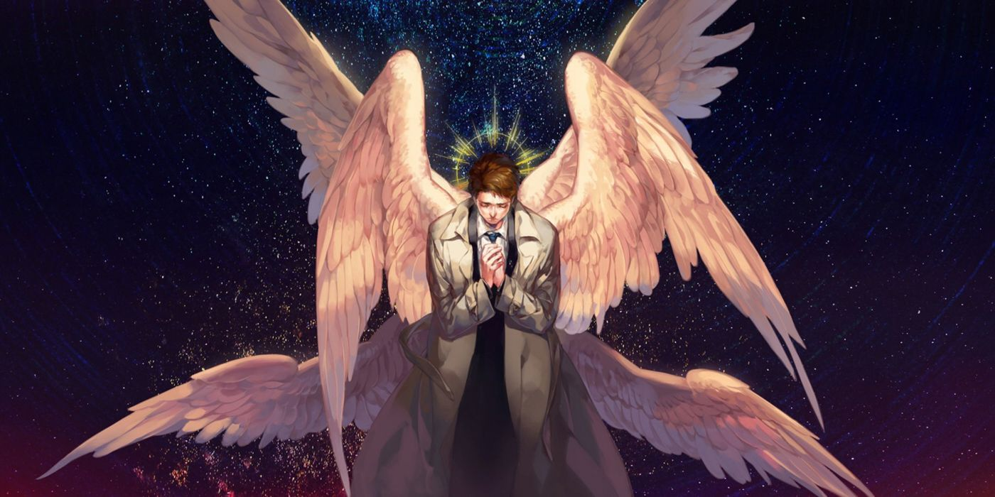 supernatural animation angel wings fantasy man wallpaper