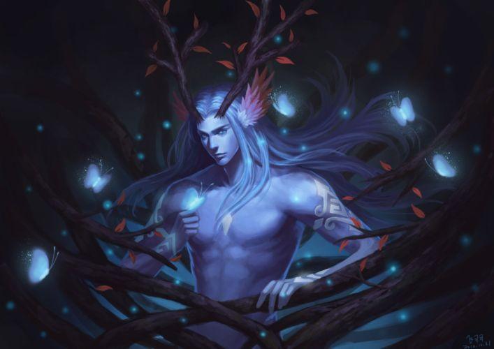 fantasy man fairy magic butterfly wallpaper