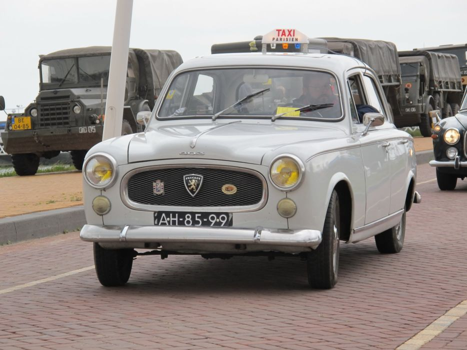 PEUGEOT 403 classic cars french sedan cab taxi wallpaper