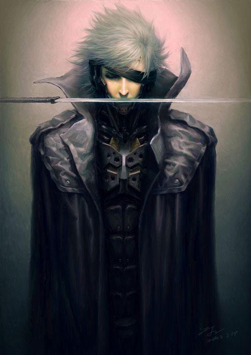 metal+gear+solid short+hair sword fantasy wallpaper