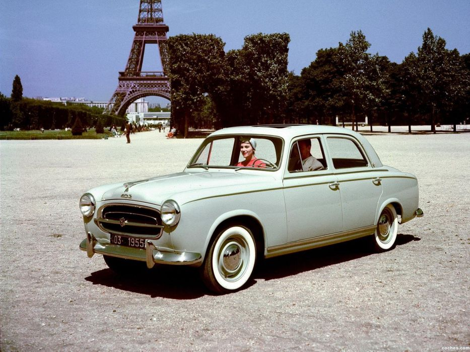 PEUGEOT 403 classic cars french sedan wallpaper
