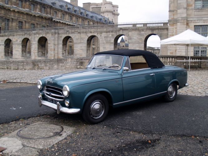 PEUGEOT 403 classic cars french convertible cabriolet wallpaper