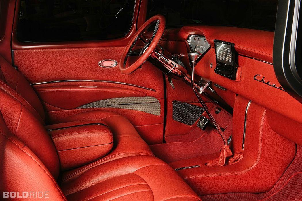 1955 Chevrolet 3100 Resto Mod Pickup lowrider hot rod rods retro vintage wallpaper