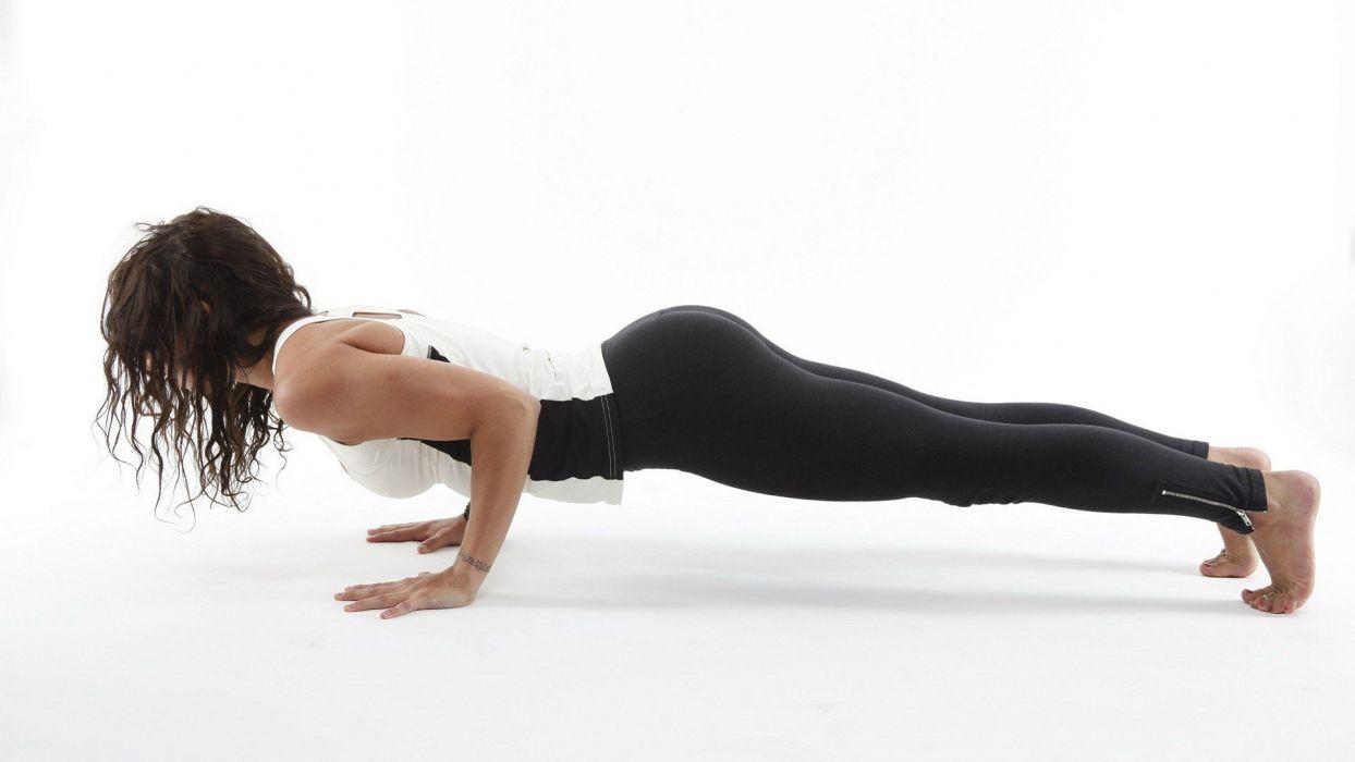 SPORTS - fitness bending girl wallpaper