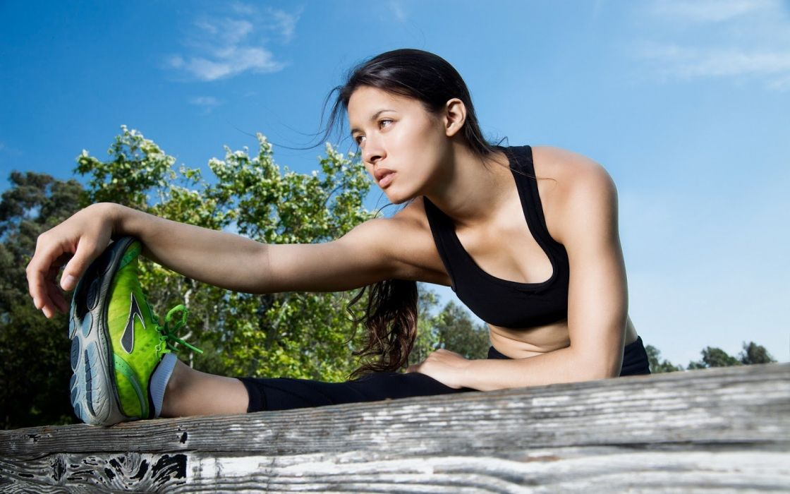 SPORTS - fitness stretching girl wallpaper