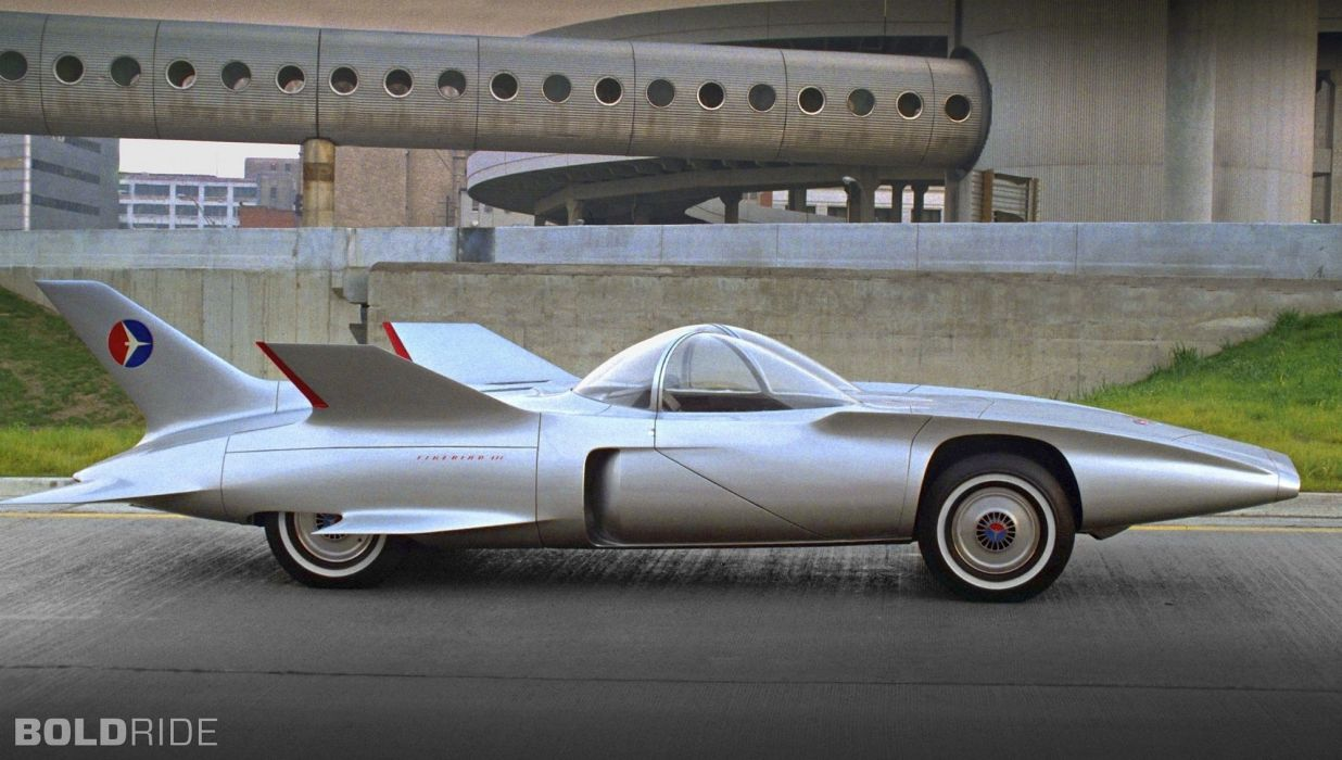 1958 G-M Firebird III Concept jet race racing retro vintage wallpaper