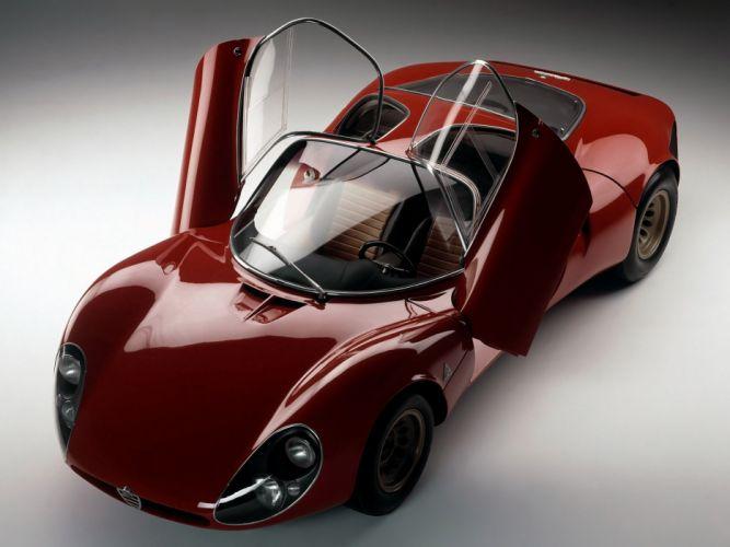 1967 Alfa Romeo Tipo-33 Stradale Prototipo supercar tipo classic wallpaper