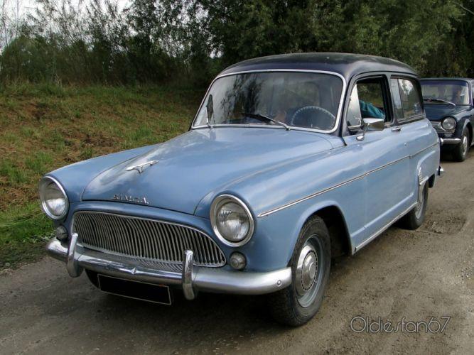 Simca aronde classic french cars van wagon wallpaper