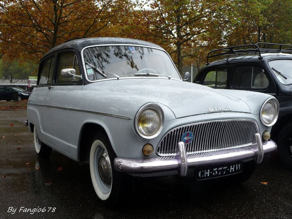 Simca aronde classic french cars van wagon wallpaper