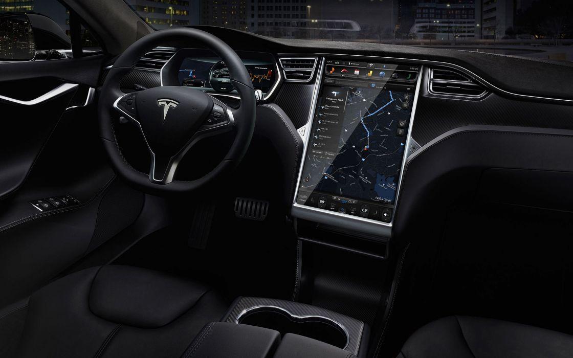 2015 Tesla Model-S P85D electric supercar wallpaper