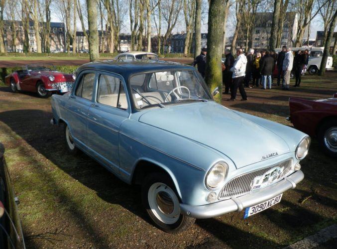 Simca aronde classic french cars sedan wallpaper