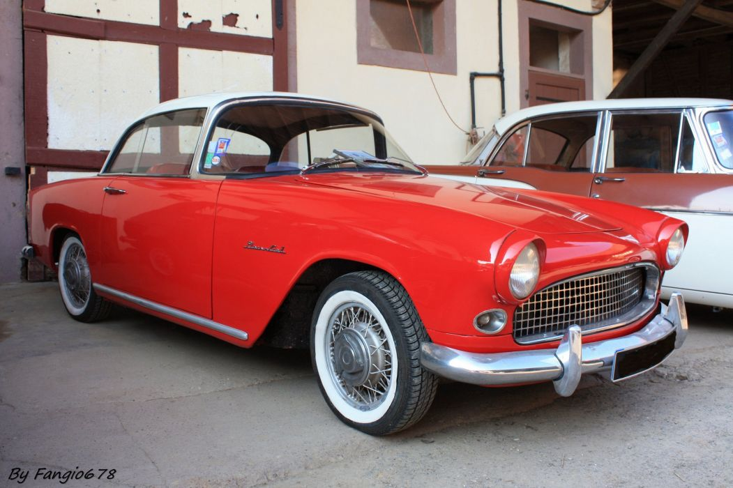 Simca aronde classic french cars coupe plein ciel wallpaper