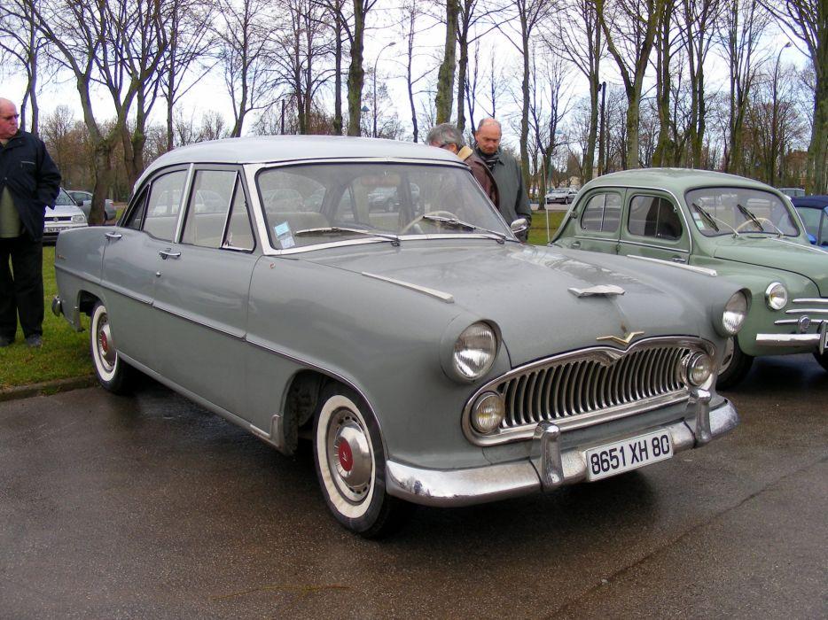 simca cars classic cars sedan french Versailles wallpaper