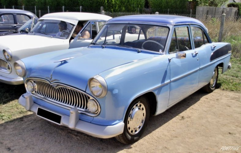 simca cars classic cars sedan french Versailles wallpaper