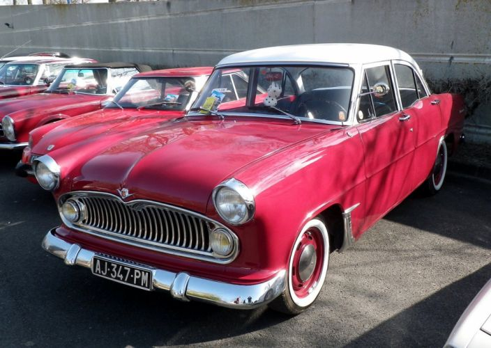 simca cars classic cars sedan french trianon wallpaper