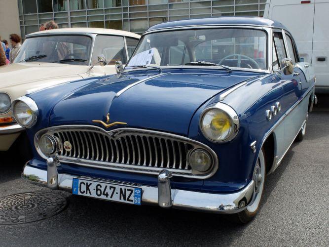simca cars classic cars sedan french regence wallpaper
