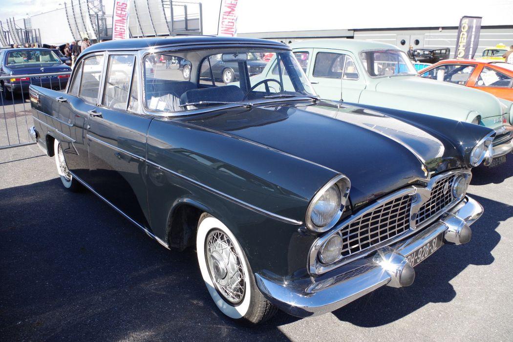 simca cars classic cars sedan french presidence wallpaper