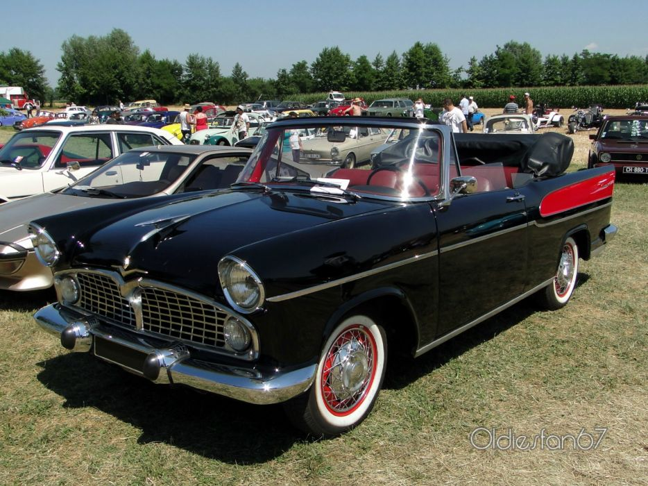 simca cars classic cars sedan french chambort convertible cabriolet wallpaper