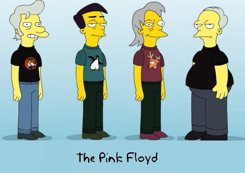 Pink Floyd Simpson version wallpaper