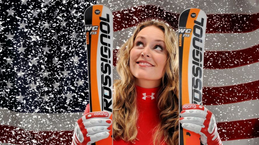 woman lindsey-vonn wallpaper