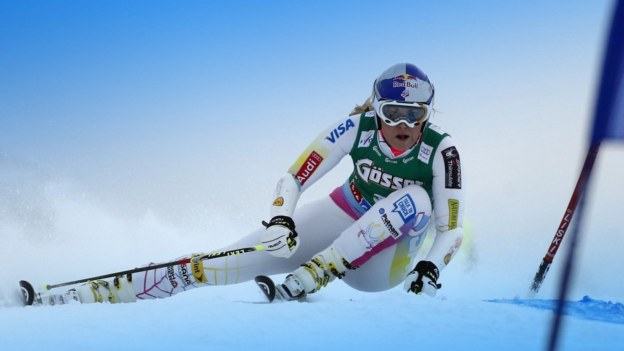 woman lindsey-vonn ski wallpaper