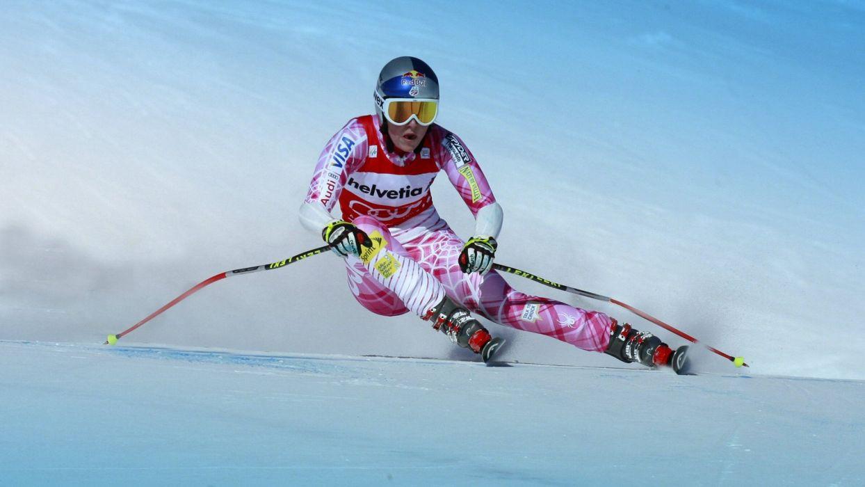woman lindsey-vonn ski wallpaper