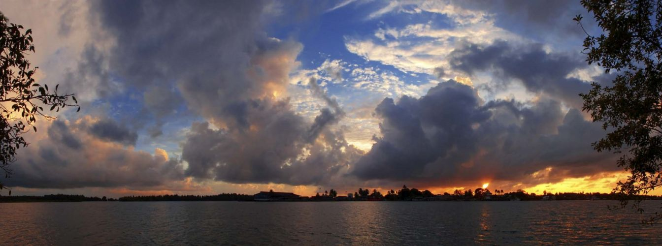 panorama dual monitor clouds west- of- the- sun wallpaper