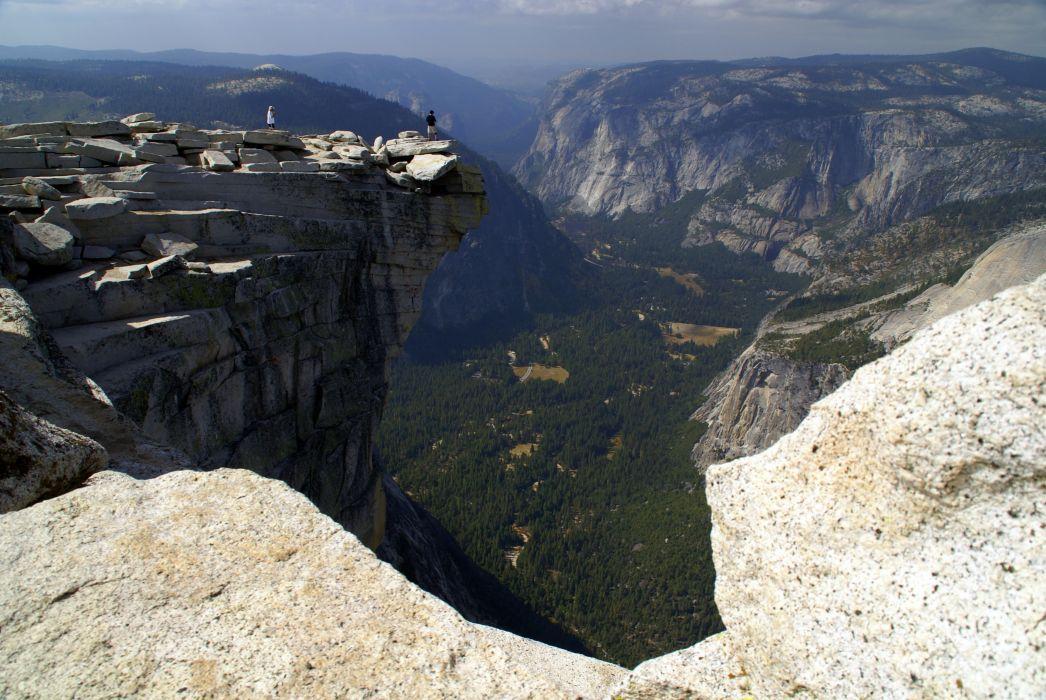 Yosemite Valley from Half Dome wallpaper