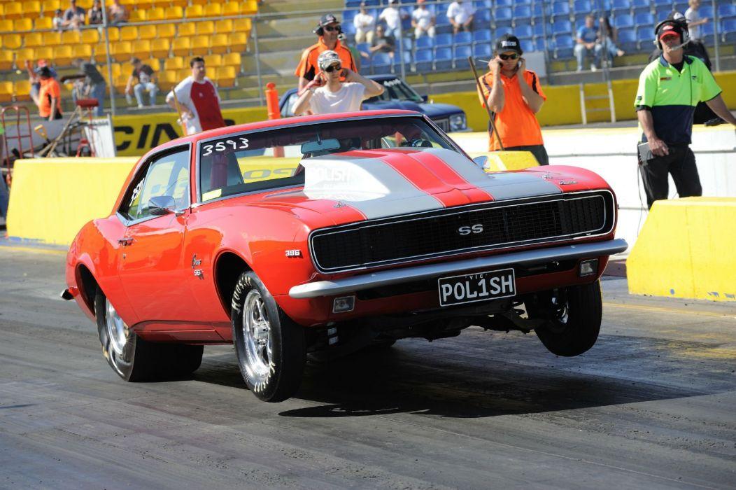 DRAG RACING hot rod rods race muscle chevrolet camaro d wallpaper
