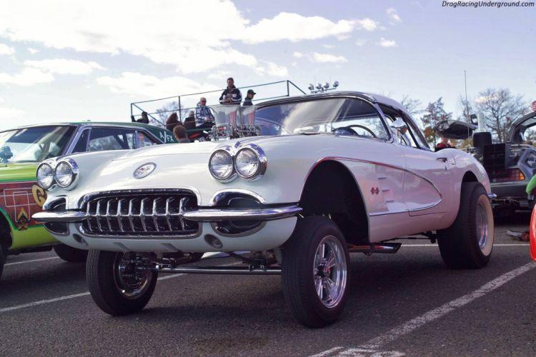 DRAG RACING hot rod rods race muscle gasser chevrolet corvette f wallpaper