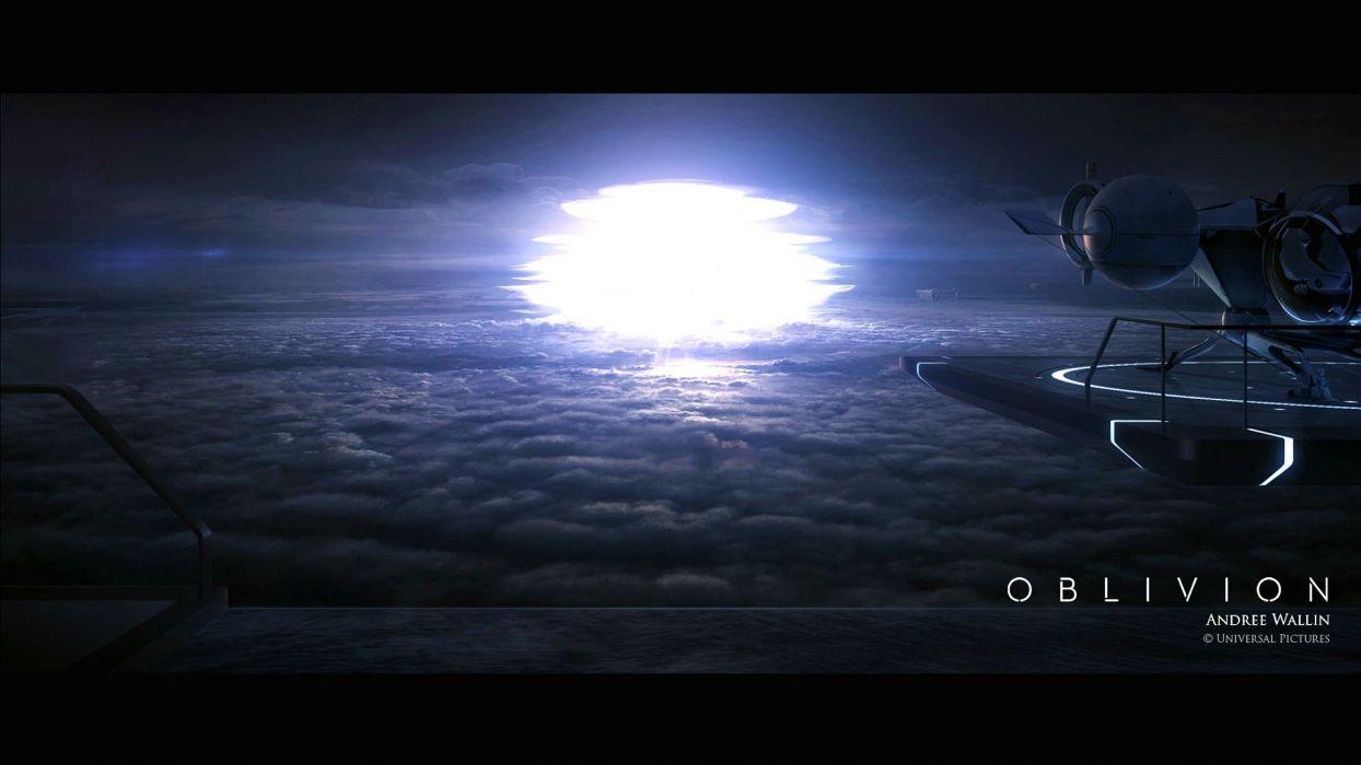 OBLIVION sci-fi futuristic cruise science technics action fighting 1oblivion apocalyptic spaceship space wallpaper