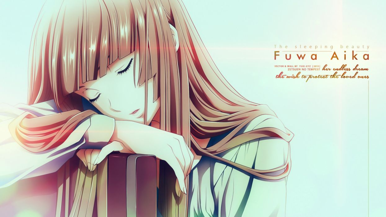 anime series zetsuen+no+tempest long hair girl character wallpaper