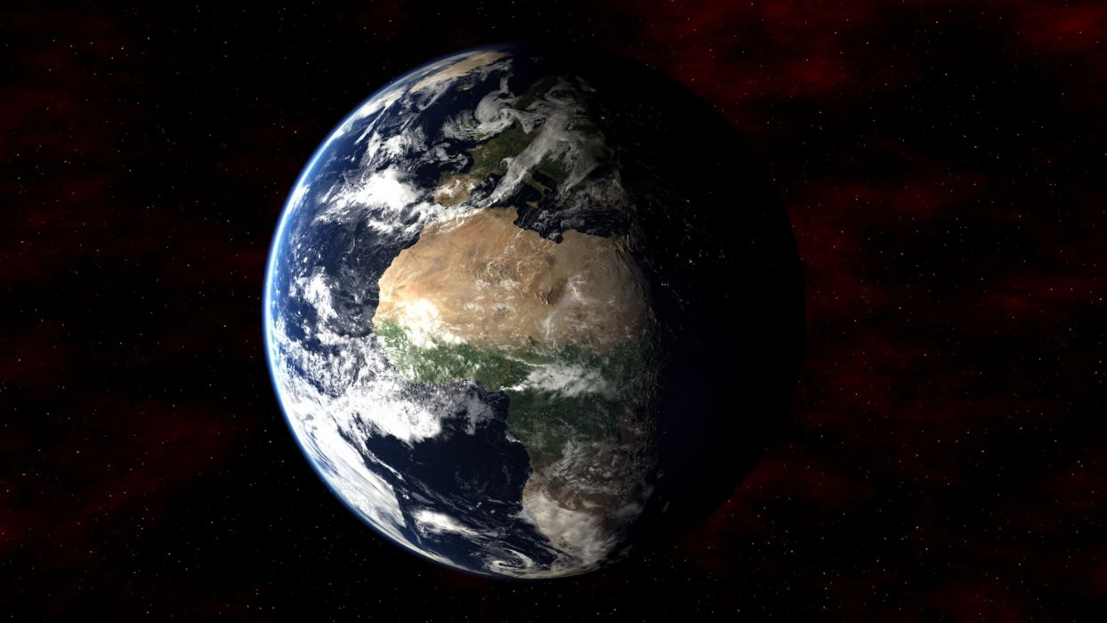 Earth in Space wallpaper