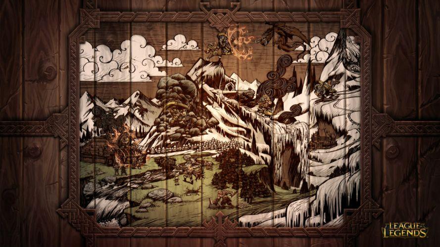 League of Legends Braum's life in the Freljord wallpaper