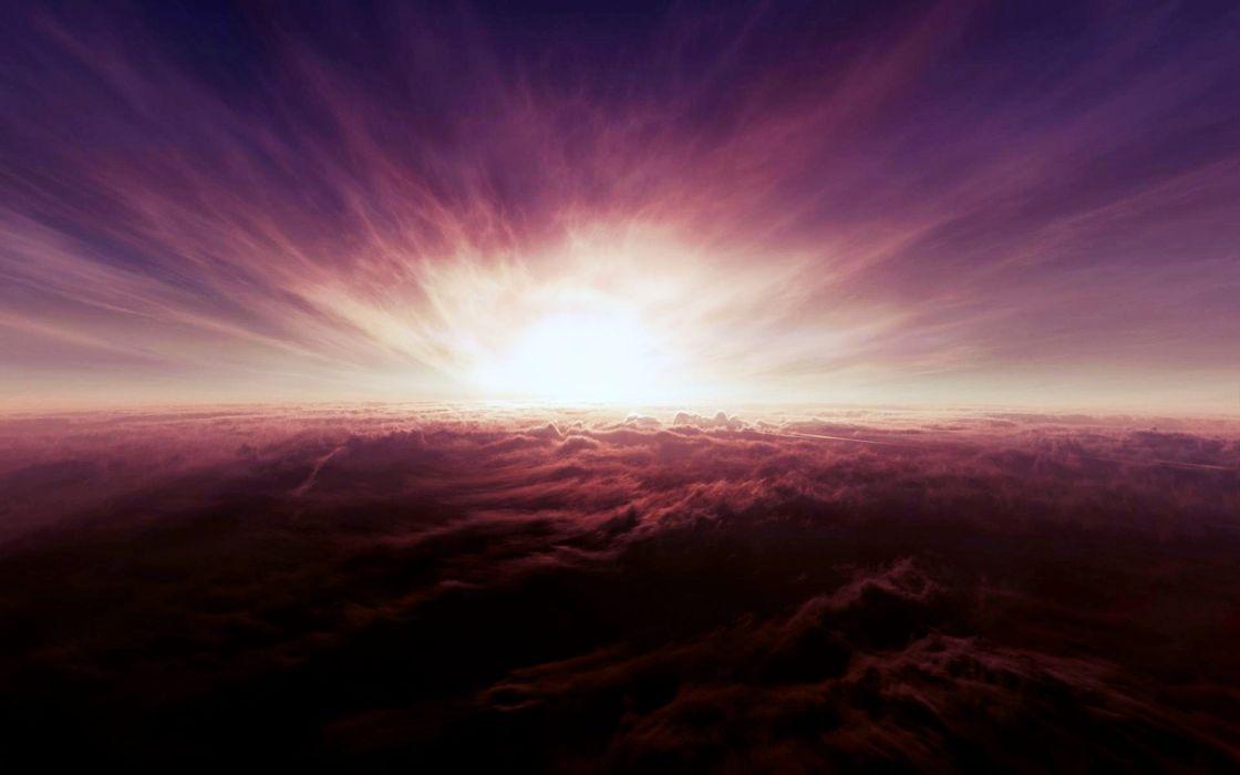 sunrise sunset sky cloud light wallpaper