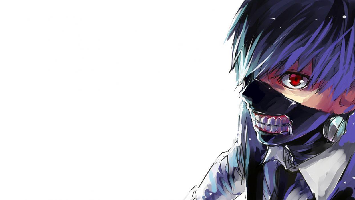 Tokyo ghoul kaneki red eye black mask hd wallpaper wallpaper