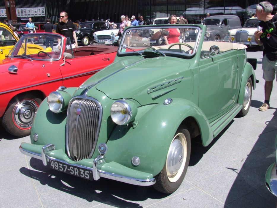 Simca-8 cars classic vintage french convertible cabriolet wallpaper