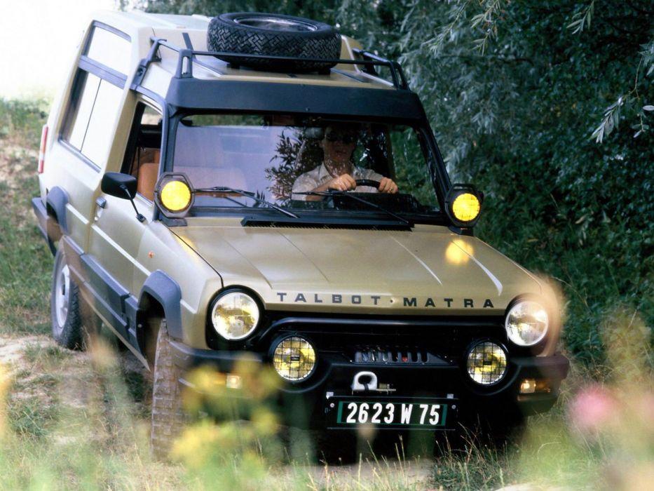 Talbot Matra Rancho suv french cars classic wallpaper