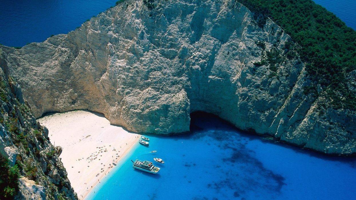 summer beach greece sea wallpaper
