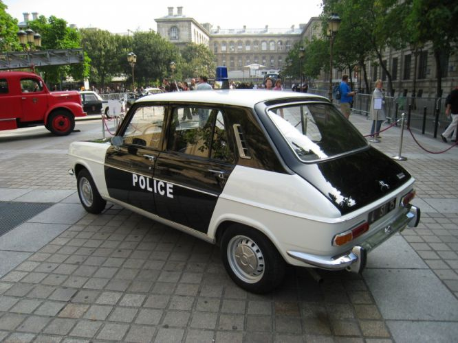 simca 1100 cars classic french police wallpaper